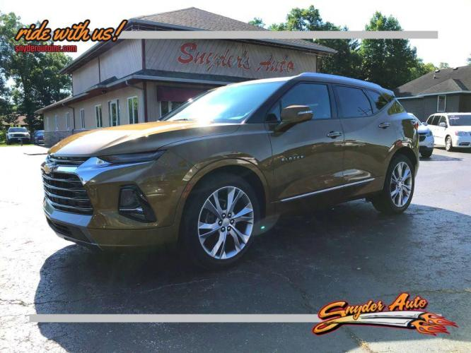2019 BROWN CHEVROLET BLAZER PREMIER (3GNKBKRS8KS) with an 3.6L engine, Automatic transmission, located at 101 S. Halleck St., DeMotte, IN, 46310, (219) 987-2922, 41.202343, -87.198189 - Photo #0