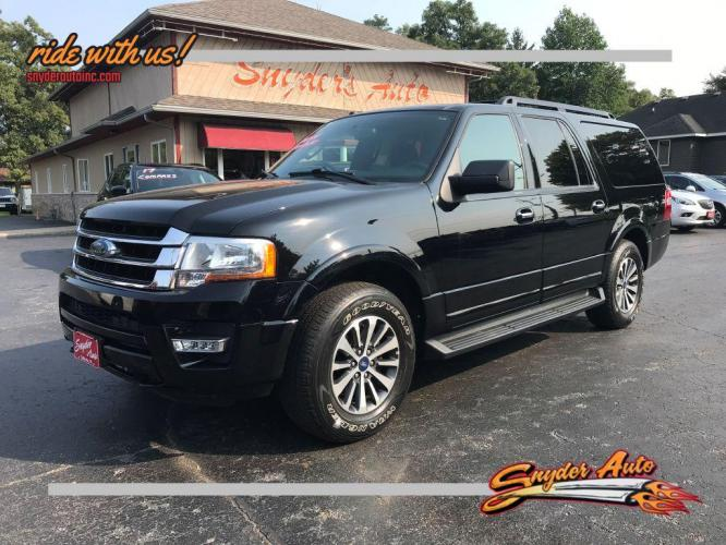 2017 BLACK FORD EXPEDITION EL XLT (1FMJK1JT4HE) with an 3.5L engine, Automatic transmission, located at 101 S. Halleck St., DeMotte, IN, 46310, (219) 987-2922, 41.202343, -87.198189 - Photo #0