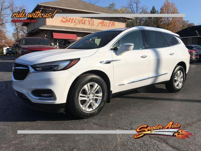 2018 WHITE BUICK ENCLAVE ESSENCE (5GAEVAKW5JJ) with an 3.6L engine, Automatic transmission, located at 101 S. Halleck St., DeMotte, IN, 46310, (219) 987-2922, 41.202343, -87.198189 - Photo #0