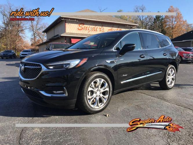 2018 BLACK BUICK ENCLAVE AVENIR (5GAEVCKW0JJ) with an 3.6L engine, Automatic transmission, located at 101 S. Halleck St., DeMotte, IN, 46310, (219) 987-2922, 41.202343, -87.198189 - Photo #0