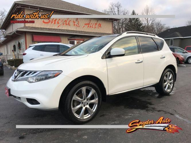 2014 WHITE NISSAN MURANO PLATINUM (JN8AZ1MW2EW) with an 3.5L engine, Continuously Variable transmission, located at 101 S. Halleck St., DeMotte, IN, 46310, (219) 987-2922, 41.202343, -87.198189 - Photo #0