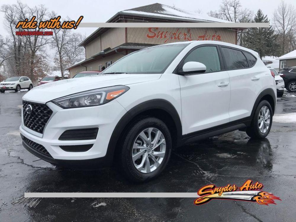 2019 WHITE HYUNDAI TUCSON SE (KM8J23A41KU) with an 2.0L engine, Automatic transmission, located at 101 S. Halleck St., DeMotte, IN, 46310, (219) 987-2922, 41.202343, -87.198189 - Photo #0